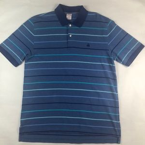 Brooks Brothers Men's Blue Striped Polo Shirt L